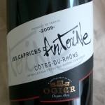 Côtes du Rhône ´Les Caprices d'Antoine´ 2009