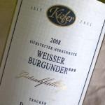 """Weisser Burgunder 2008 """"Gutsabfüllung"""""""