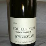 Pouilly Fumé 'Les Vallons' 2010