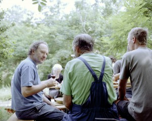 Hans Nittnaus bei der Mittagspause