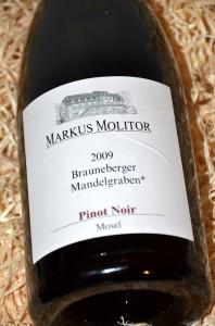 Molitor Brauneberger Mandelgraben Pinot Noir 2009