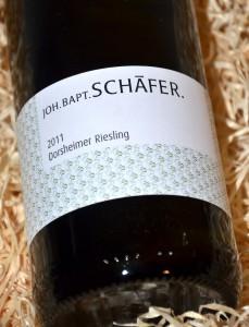 Schaefer Dorsheimer Riesling 2011