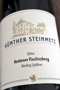 Kestener Paulinsberg 2014 Riesling Spaetlese
