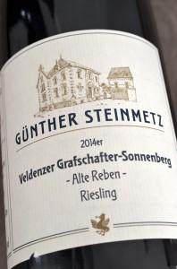 Veldenzer Grafschaft Sonnenberg 2014 Riesling Alte Reben