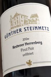 Kestener Herrenberg 2012 Pinot Noir